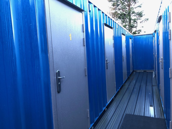 Steel sided selfstorage compartments, Bluebox Selfstore Eastbourne